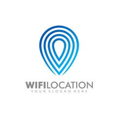 Wifi Click location Logo template