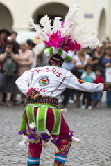 Dancer performing for the carnival opening of Salta, Argentina