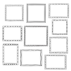 Photo frames doodle sketch, vector