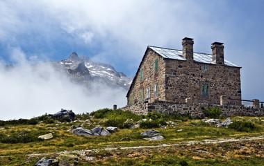Mountain refuge in Neouvielle Massif of French Pyrenees