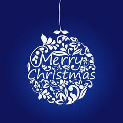 Khokhloma Merry Christmas card
