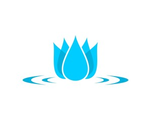 Water ripple flower