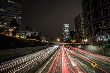 DOWNTOWN LA TRAFFIC LIGHTS Fotobehang