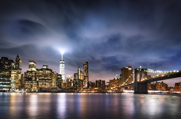 Wall Mural - New York  City lights