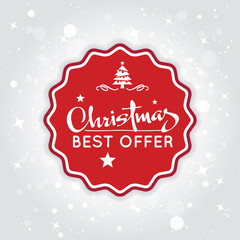 Christmas sale background. Best offer for christmas days. Vector