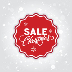 Christmas sale background. Christmas shopping banner. Vector.
