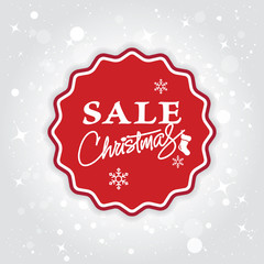 Christmas sale background. Christmas shopping banner. Vector.