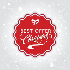 Christmas sale background. Best offer for christmas days. Vector.