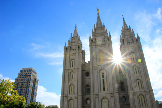 Temple of The Church of Jesus Christ of Latter-day Saints with s