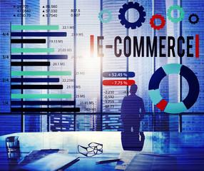E-Commerce Online Marketing Strategy Corporate Concept