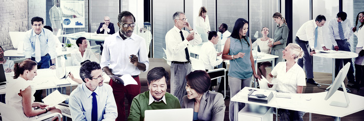 Multiethnic Group of People Working Busy Concept