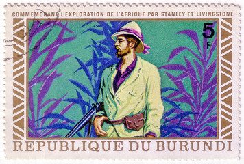 Republic of Burundi - CIRCA 1970s: A stamp printed in Burundi sh