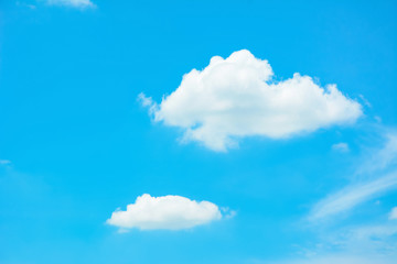 Bright summer blue sky as background