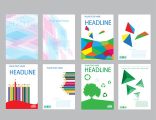 Design cover paper report. Abstract geometric vector template.