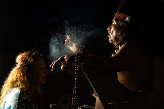 shaman ayahuasca ecuador treatment plants ceremony people magical in ecuadorian amazonia during a genuine ayahuasca formal image as seen in april 2015 shaman ayahuasca ecuador treatment plants ceremo