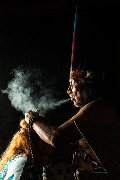 shaman ayahuasca ecuador amazon smoke people magician in ecuadorian amazonia during a genuine ayahuasca formal picture as seen in april 2015 shaman ayahuasca ecuador amazon smoke people maya magician