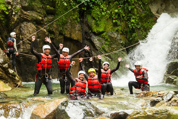 Authentic Canyoning Trip Wall mural