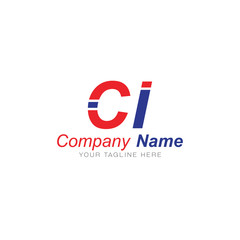 C and I Red and Blue - Logo Letters