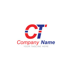 C and T Red and Blue - Logo Letters