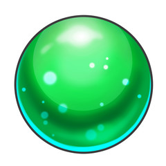 Illustration: Element Design: All Kinds of Marbles with Different Colors. Realistic Cartoon Life Style. Game Asset / UI Design.