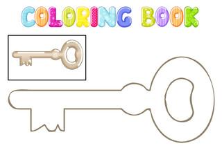 Coloring old metal key