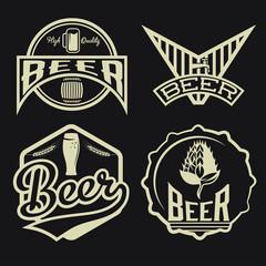 set of beer vintage labels