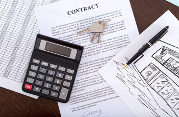 Concept of a real estate contract