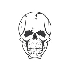 skull vector design template