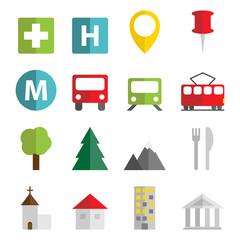 Map objects icons