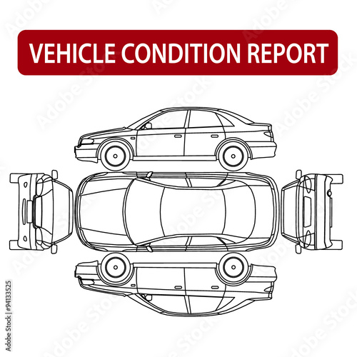 Car Condition Report Vehicle Checklist Auto Damage Inspection