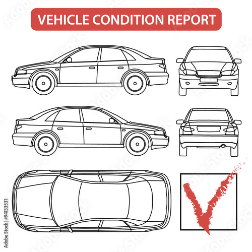 Vehicle condition report car checklist auto damage for Motor vehicle record check