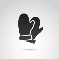 Winter gloves VECTOR icon.