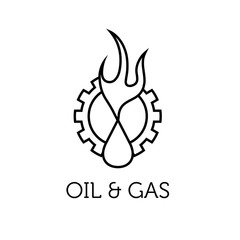 oil and gas industry iluustration