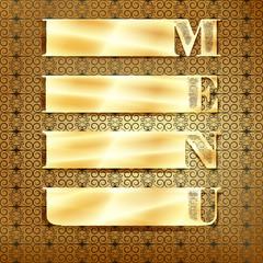 menu  golden ornament 3