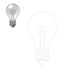 Draw lightbulb vector illustration