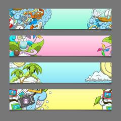 Banner summer theme vector illustration