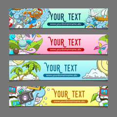 Banner summer theme vector illustration