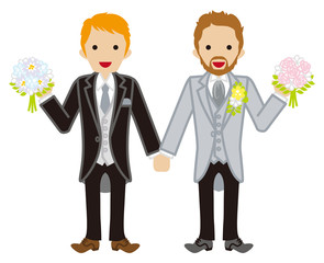 Wedding -gay couple -Red hair