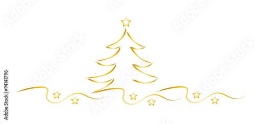 goldener weihnachtsbaum mit sternen weihnachtszeit. Black Bedroom Furniture Sets. Home Design Ideas