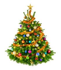 Perfekter bunter Weihnachtsbaum