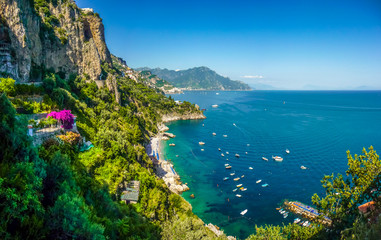 Printed roller blinds Sea Postcard view of Amalfi Coast, Campania, Italy