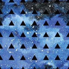 Galaxy seamless pattern.