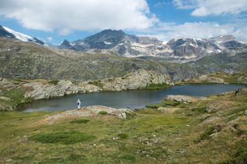 Poster Lilas Lac en Vanoise , Savoie , Alpes