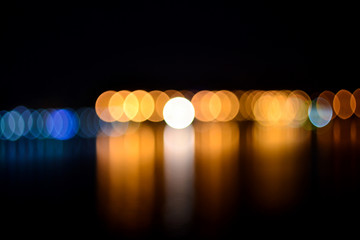 Abstract night defocused lights background