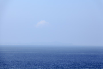 Blue sky and sea horizon background