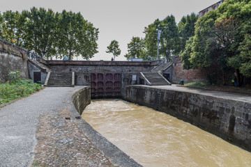 Canal du Midi in Toulouse, France. A World Heritage Site