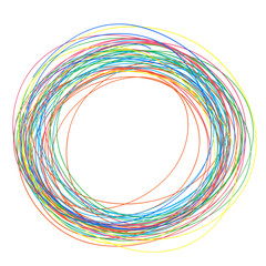 groviglio, intreccio, intricato, arcobaleno, colorato