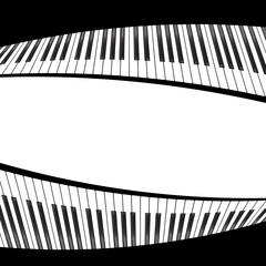 black and white piano template