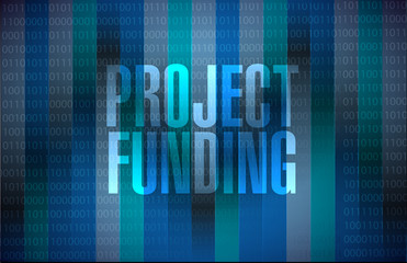Project Funding binary sign concept