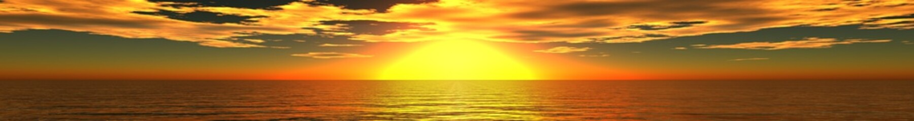 panorama of sea sunset, sunrise, Banner